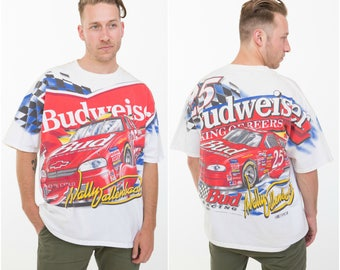 Bud Racer / Vintage Budweiser Racing Tee / Wally Dallenbach Size XL