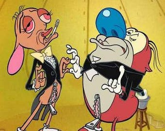 Ren and Stimpy Rare Vintage Poster
