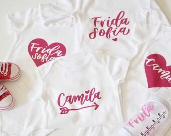 Custom name onsie   baby shower gift