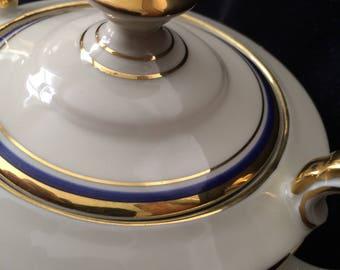 Rare Seltmann Bavaria Sugar Dish with 6 Demitasse Saucers  (set)