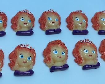 Princess Sofia the 1st  Carbochon Set of 10