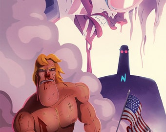 SIGNED! AmeriKarate Issue #3: Main Cover By Devin Roth
