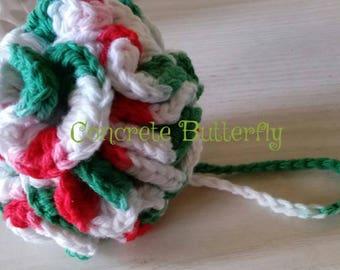 Crochet bath pouf, bath pouf, cotton pouf, shower pouf, natural pouf, body pouf, shower loofah, crochet shower pouf, stocking stuffer