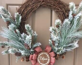 Christmas Wreath, Holiday Wreath, Believe Wreath, Jingle Bell Wreath, Winter Wreath, Holiday Decor, Christmas Decor