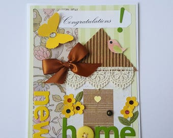 New Home Card * Congratulations on Your New Home Handmade Card