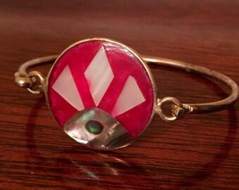 Unique Vintage Sterling Silver Childs Bracelet