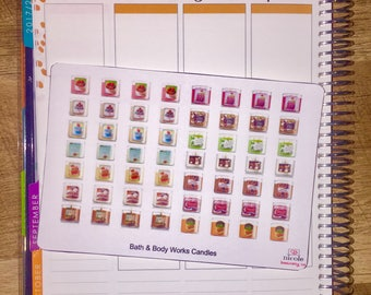 Bath & Body Works Candles Planner Stickers