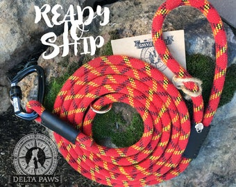 READY to SHIP! 10FT Canyon Leash || Rock Climbing Rope Dog Leash || Handmade in the USA