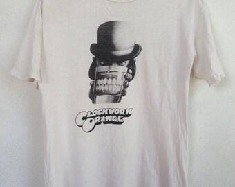 Rare vintage Clockwork Orange movie 90s Tshirt M