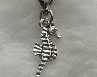 Seahorse Pewter Charm - Clip-On - Ready to Wear