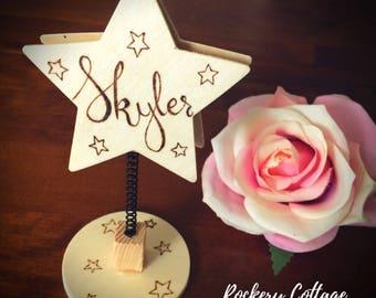 Personalised photo holder, note holder, star frame, you're a star, personalised frame, photo clip, note clip, photo frame, christmas decor,