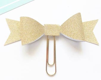 Planner Paper clips in Adorable Gold Glitter, Planner Accessories,Planner Paperclips collection