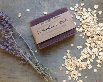 Handmade Artisan Organic Soap - Lavender and Oats