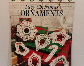 Lacy Christmas Ornaments 7 Knitting Crochet Patterns by Leisure Arts