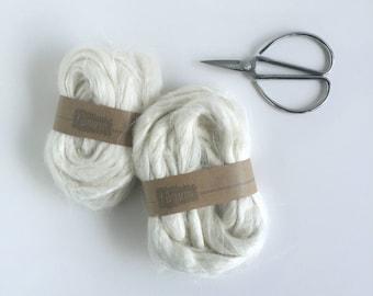 Flax Fibers White / Vlas lont / Fibre / Fibers /
