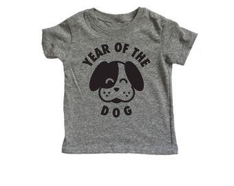 Year of the Dog Baby and Kids Tee, Chinese New Year shirt,  Lunar New Year shirt, Chinese Asian Baby Gift, Unique Baby gift