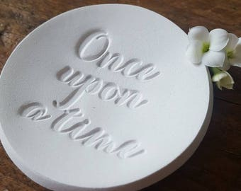 Once Upon a Time Ring Dish ~ Wedding Favor Ring Dish ~ Ring Bearer Bowl ~ Jewelry Dish ~ Wedding Ring Dish