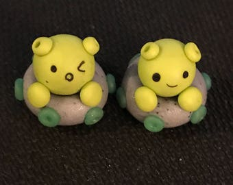 Alien Polymer Clay Charms