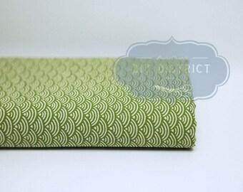 Japanese seigaiha motif fabric