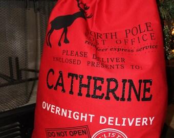 Blank Santa Sack - Personalized Santa Sack - Christmas Gift - Santa Sacks - Present Bag - Santa Bag - Christmas Bag