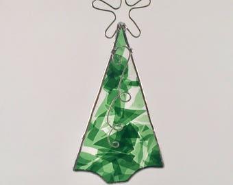 Stained Glass Tree Ornament - Stained Glass Christmas Tree - Christmas Tree Ornament - Stained Glass Tree Suncatcher - Tree Suncatcher