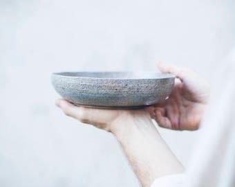 Raku bowl [RAINSTORM]