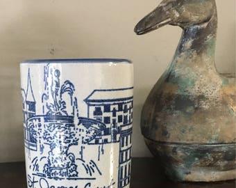 St. James Court Stoneware Coffee/Cocoa Mug Louisville Stoneware Made in Kentucky 1987