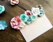 Indie size flower crown bookmark