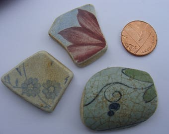 English Sea Pottery Pieces- castle Artifacts.