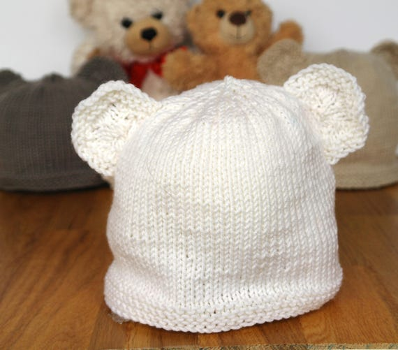 Easy baby knitting pattern / Teddy bear hat / Baby hat ...
