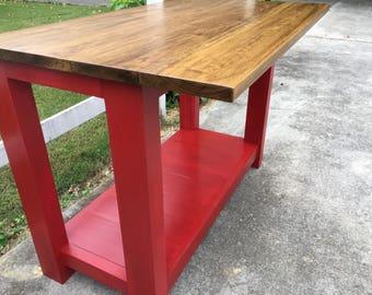 Farmhouse Kitchen Island, Rustic Kitchen Island, Kitchen Furniture, Farm  Counter Height Table,