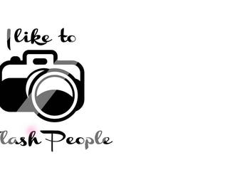 I like to flash people   svg/dxf file instant download