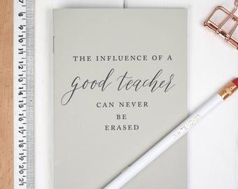 Teacher notebook and pencil set