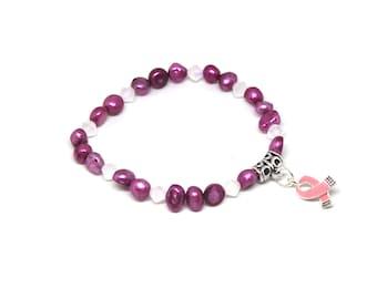 Breast Cancer Awareness Bracelet - Breast Cancer Bracelets - Breast Cancer Gifts - Breast Cancer Awareness - Breast Cancer Survivor