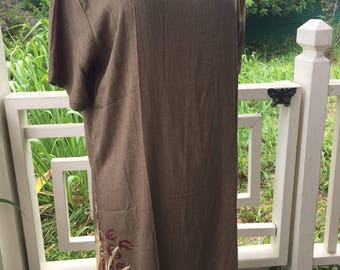 Rayon Long Summer Shift Dress