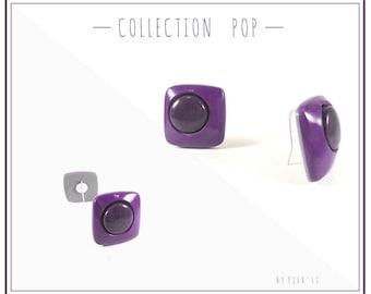 Shades of purple earrings
