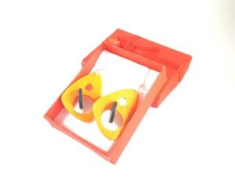 Tangerine earrings 3D - designer jewelry © PIER'LI