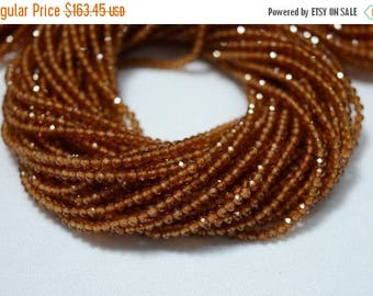 40% Discount 10 Strands, AAA 2.5mm Hessonite Garnet Beads, Faceted Rondelle Beads, Garnet Rondelles, Gemstone Beads, 13 Inch