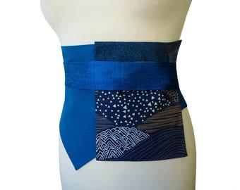 Wide waistband asymmetrical teal Sohan