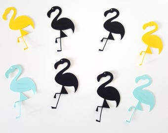 10 door-lollipop-Flamingo - cardstock for lollipops - party table decoration - candy bar