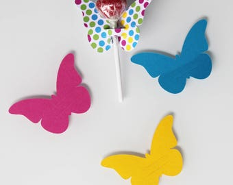 10 butterflies in cardstock for lollipops - party table decoration