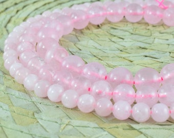 Pink Rose Quartz Gemstone Round Beads Size 6mm/8mm/10mm/14mm Natural Stones Beads Healing chakra stones for Jewelry Making