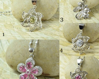 White Gold Rhodium Plated Pendants/ Bling/Wholesale Pendants/Openwork Pendant/Wedding Jewelry/CZ Wholesale Pendants, Rhodium Pendants,