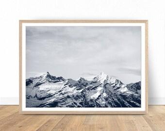 Mountain Print, Landscape Photography, Mountain Art, Landscape Print, Mountain Wall Art Print, Nature Photography, Mountain Printable Art
