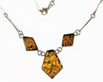 Vintage Necklace Handmade Baltic Amber 20g