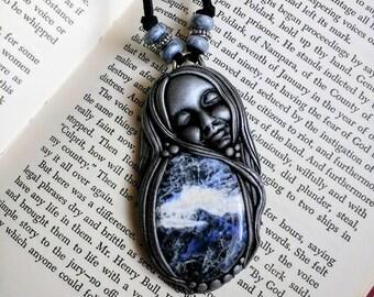 Blue Sodalite Goddess.