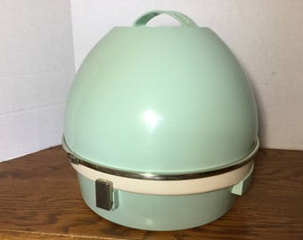 Hard Bonnet Hair Dryer, Oster Model 265 Aqua /Mint Green Professional Beauty Salon