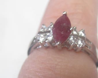 Sterling Silver Ring Marked 925 with Stone
