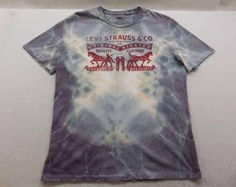 Mens Levi's Two Horse Logo Tie Dyed Short Sleeve T-Shirt Size Medium