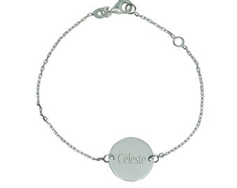 Personalized Sterling Silver children bracelet